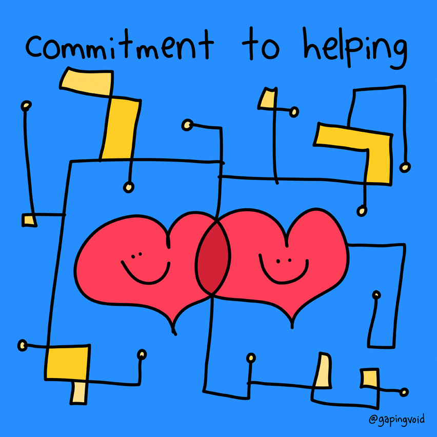 Commitment to helping