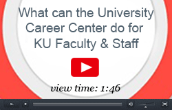 What can the University Career Center do for KU Faculty & Staff? view time: 1:46