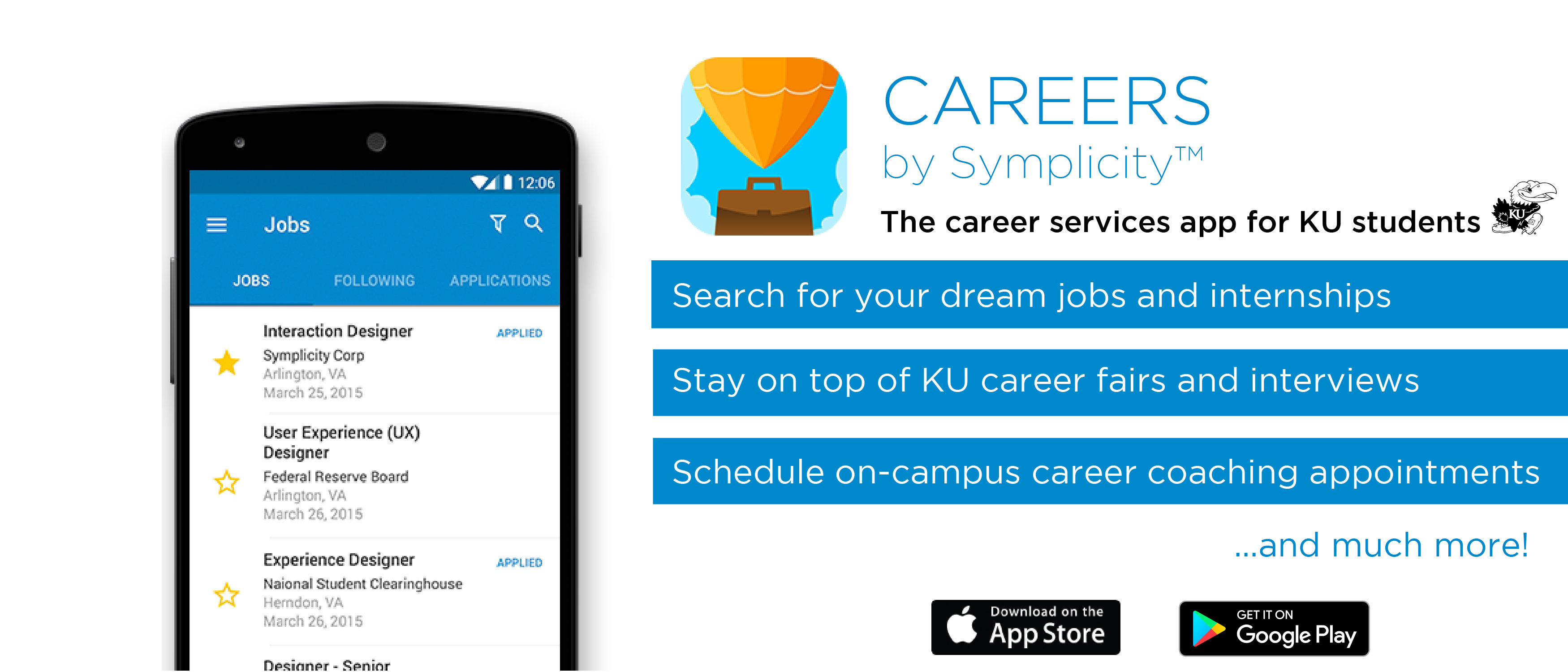 Careers by Symplicity - download the app today!