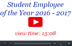 Student Employee of the Year Video, 2016-2017, 13:08