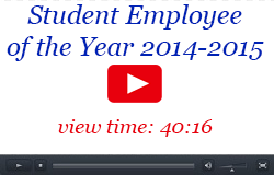 Student Employee of the Year Video, 2014-2015, 40:16