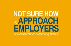 What to say to employers at a career fair or networking event