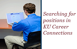 Searching for positions in KU Career Connections