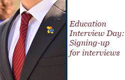 Education interview day sign-up demo