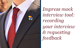 Impress Mock Interview Tool: Recording your interview & requesting feedback